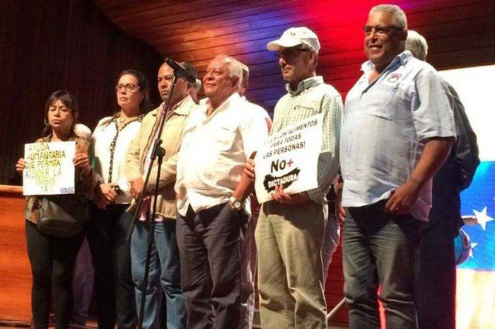 Trabajadores con Guaidó