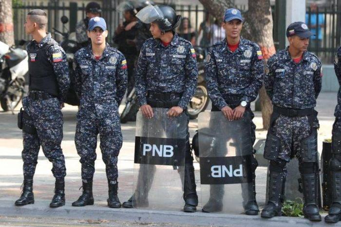 PNB impidió marcha de trabajadores públicos