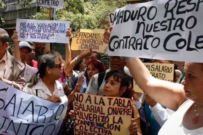 Trabajadores venezolanos tienen más motivos para manifestar que en años anteriores