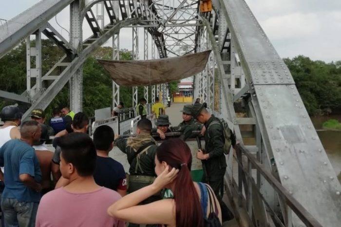 Efectivos militares bloquean Puente Unión en la frontera de Táchira con Santander