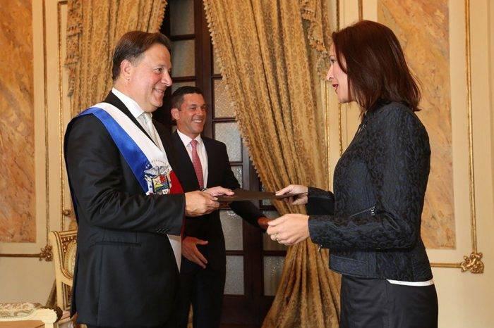 Presidente de Panamá recibió credenciales de representante diplomática de Venezuela