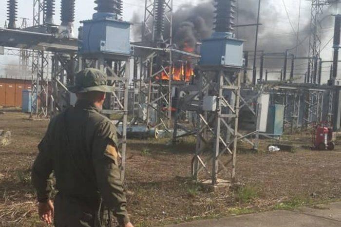 """Se incendió subestación en Tacarigua tras """"victoria ante el sabotaje eléctrico"""""""