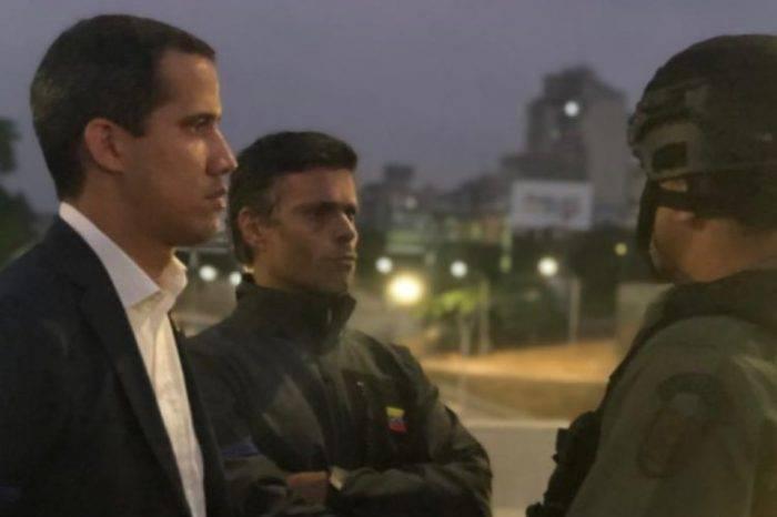 """Guaidó """"madruga"""" y aparece junto a Leopoldo López en distribuidor Altamira"""