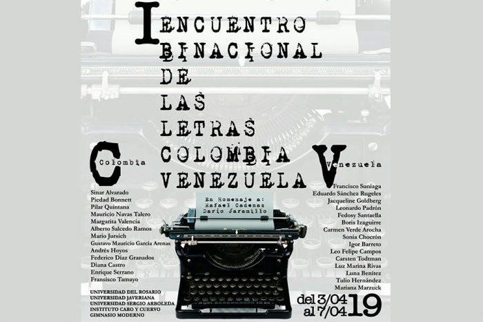 Escritores de Colombia y Venezuela  se reúnen en Bogotá del 3 al 5 de abril