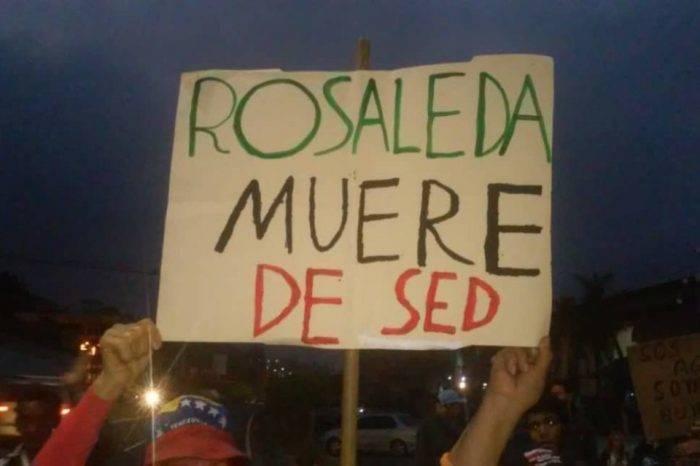 Vecinos en La Rosaleda protestan el #15Abr en la Panamericana por falta de agua