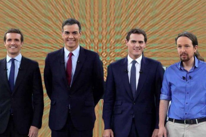 Por primera vez cinco partidos disputan unas elecciones en España
