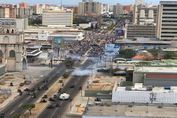 Manifestaciones en Zulia, Lara y Yaracuy fueron reprimidas por parte de la GN