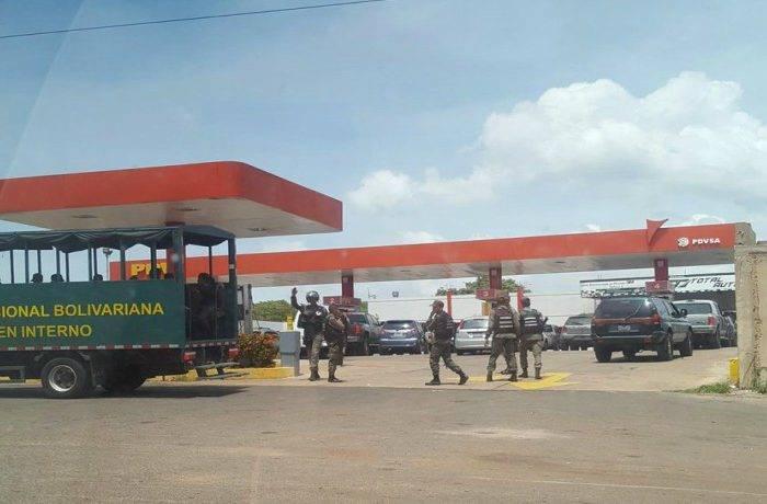 Militarizan estaciones de servicios en varias entidades del país