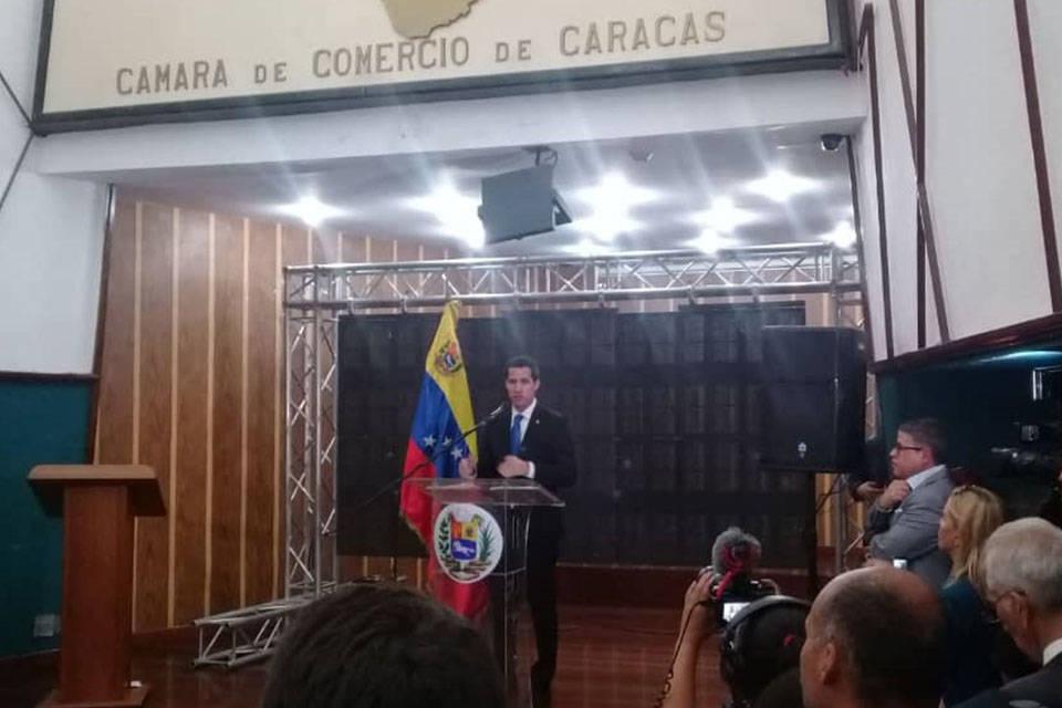 Juan Guaidó Cámara de Comercio