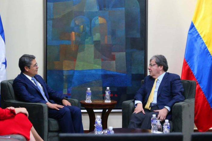 Honduras y Colombia ratifican compromiso de contribuir a la paz en Venezuela