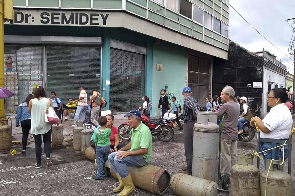 Protesta por falta de gas en Táchira