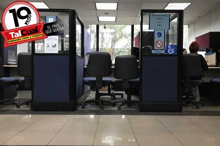 Diáspora dejó a la banca sin personal ni agencias