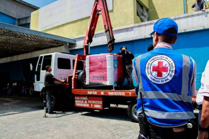 Cruz Roja finalizó esta semana primera etapa de entrega de medicinas e insumos médicos