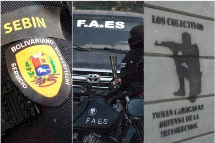 Sebin, FAES y colectivos: las caras visibles de la represión