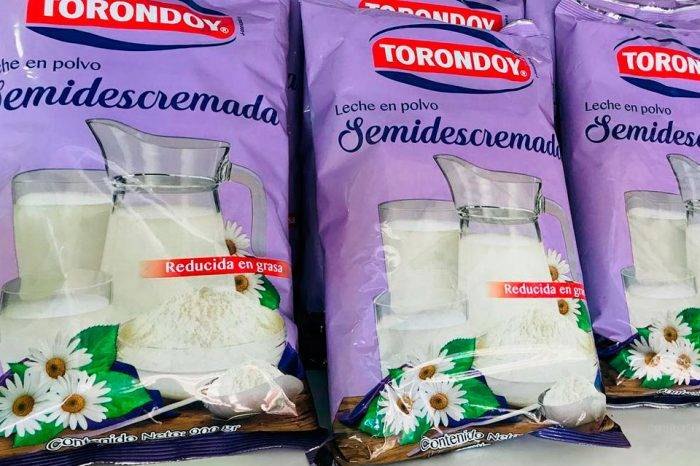 Hurtaron 1.450 kilos de leche en polvo semidescremada de la planta de Torondoy
