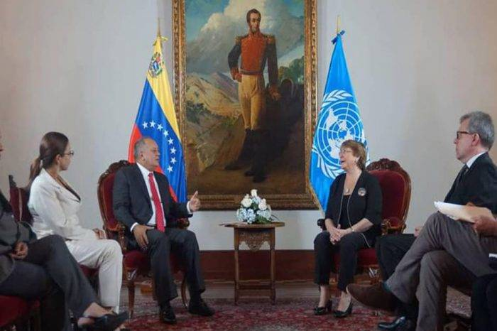 Bachelet se reunió con Diosdado Cabello en la sede de la Cancillería