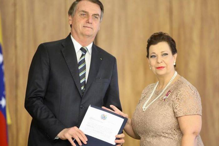 María Teresa Belandria y Bolsonaro