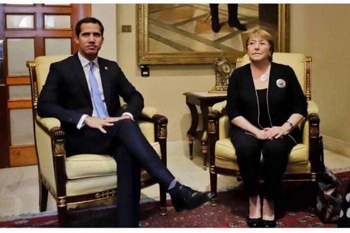 Juan Guaidó recibe a Michelle Bachelet en la AN para conversar sobre la crisis del país