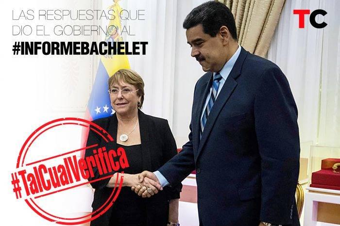 #TalCualVerifica las respuestas del gobierno de Maduro al #InformeBachelet