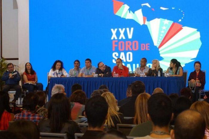 Foro de Sao Paulo se alinea contra el imperialismo y baja volumen a voces críticas