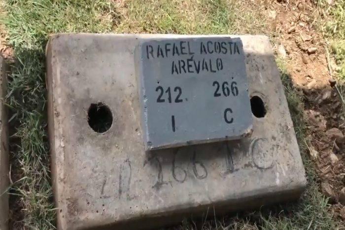 Después de 11 días y en ataúd sellado fue enterrado cuerpo del capitán Acosta Arévalo