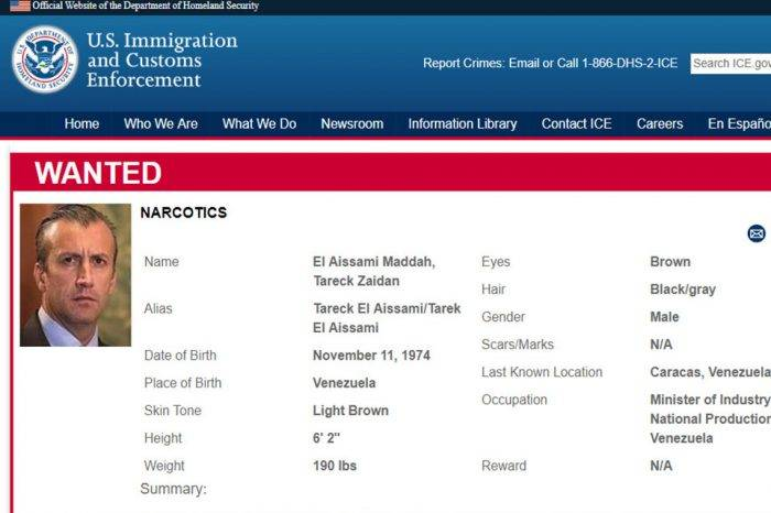 EEUU incluye a Tareck El Aissami en la lista de los más buscados por narcotráfico