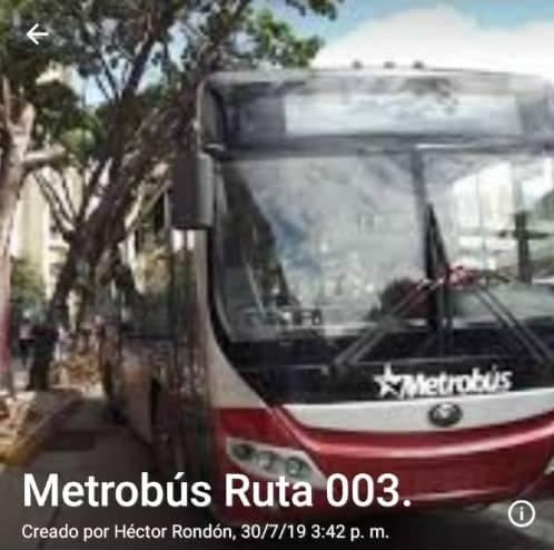 Metrobús Ruta 003
