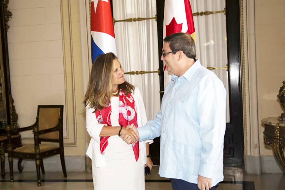 Cuba pide a Canadá apoyo para poner fin a sanciones contra Venezuela