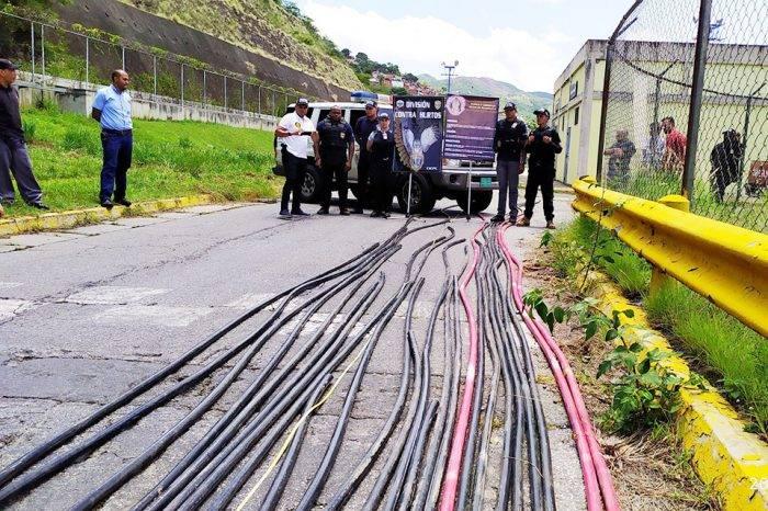 """Personal del Metro y funcionarios del Cicpc recuperan material """"estratégico"""" hurtado"""