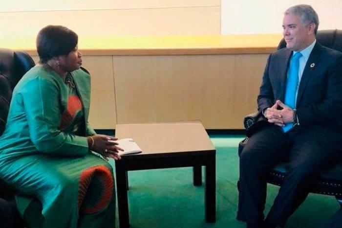 Duque se reunió con fiscal de la CPI para hablar de denuncias contra Maduro