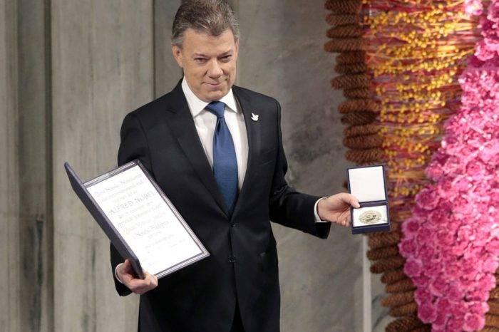 Juan Manuel Santos-Recibe Premio Nóbel de la Paz