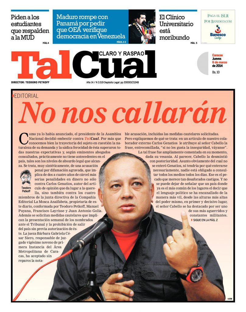 Editorial. No nos callarán