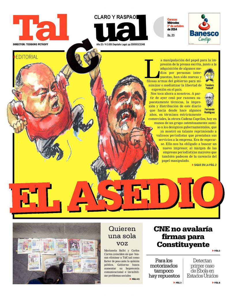 Editorial. El Asedio