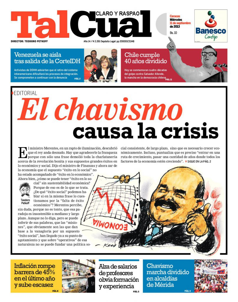 Editorial. El Chavismo
