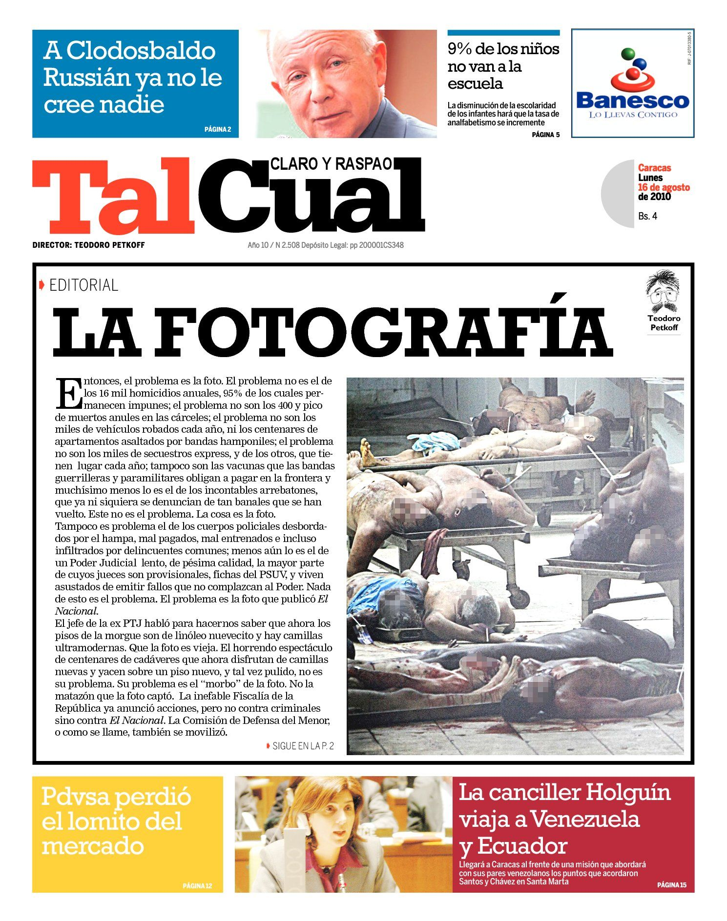Editorial. La fotografía