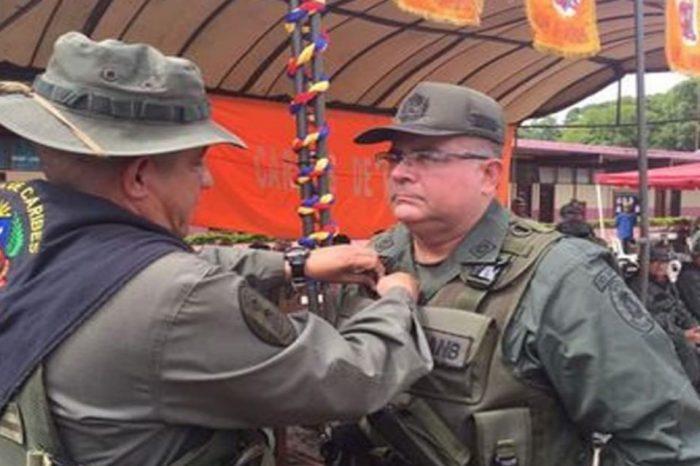 """Aquiles Leopoldo Lapadula Sira, hoy imputado por cooperar con la """"narcomafia"""", fue ascendido a General de Brigada el pasado 19 de julio por Nicolás Maduro"""