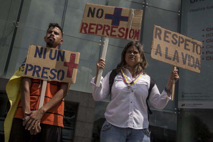 DDHH protesta presos políticos