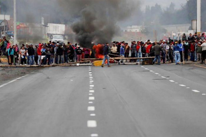 Cifra de arrestados por protestas en Ecuador sube a 477 personas, revela el gobierno
