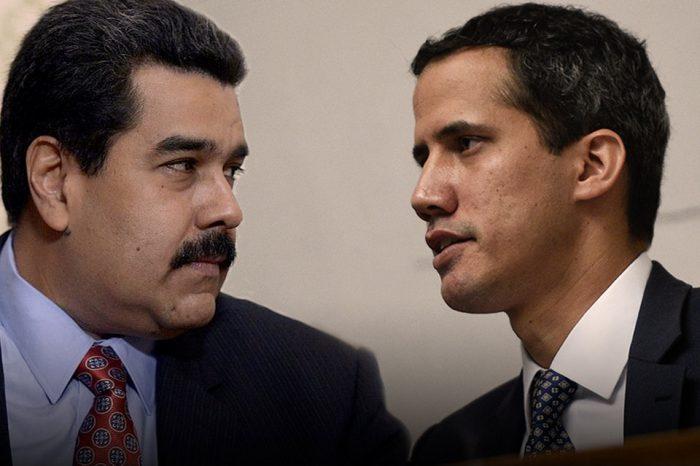 Maduro y Guaidó-salida negociada