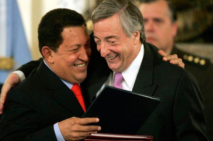 Nestor Kirchnner y Hugo Chávez