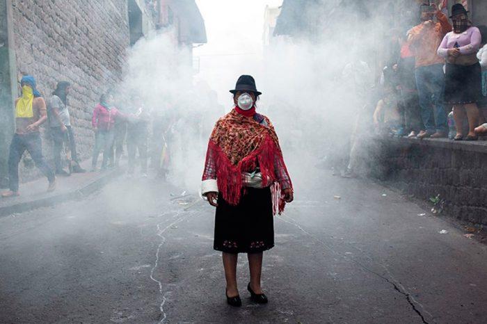 Protestas indígenas en Ecuador