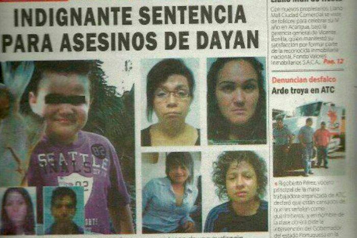 TSJ ratificó condena de 27 años para las asesinas del niño Dayán González