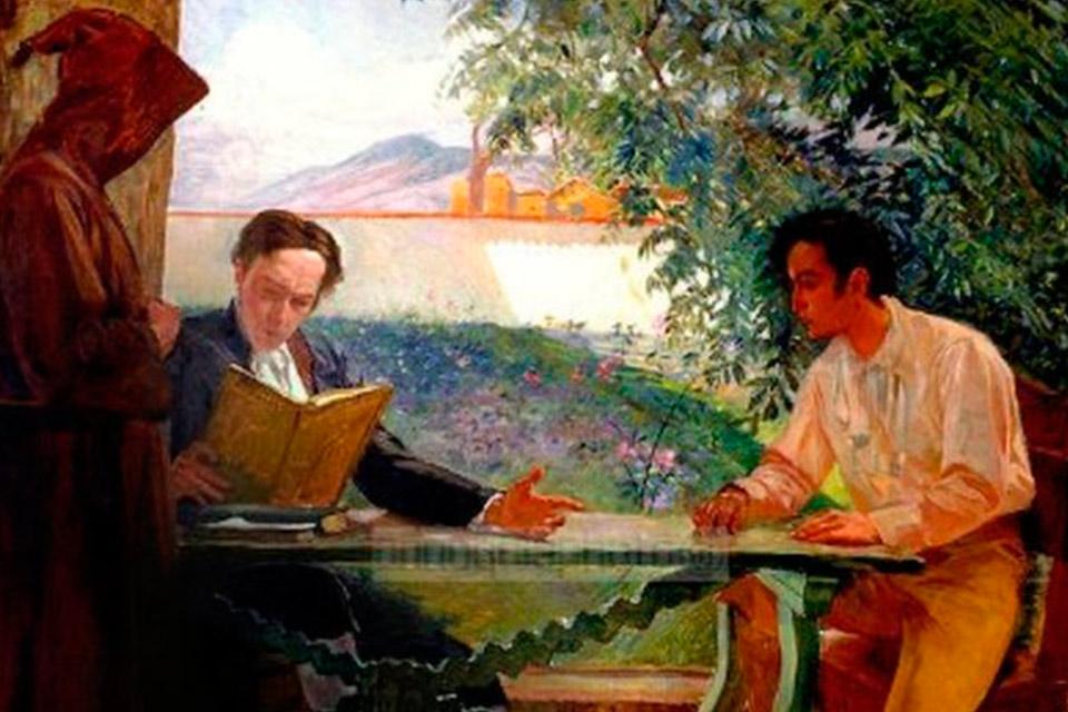 Andrés Bello y Simón Bolívar