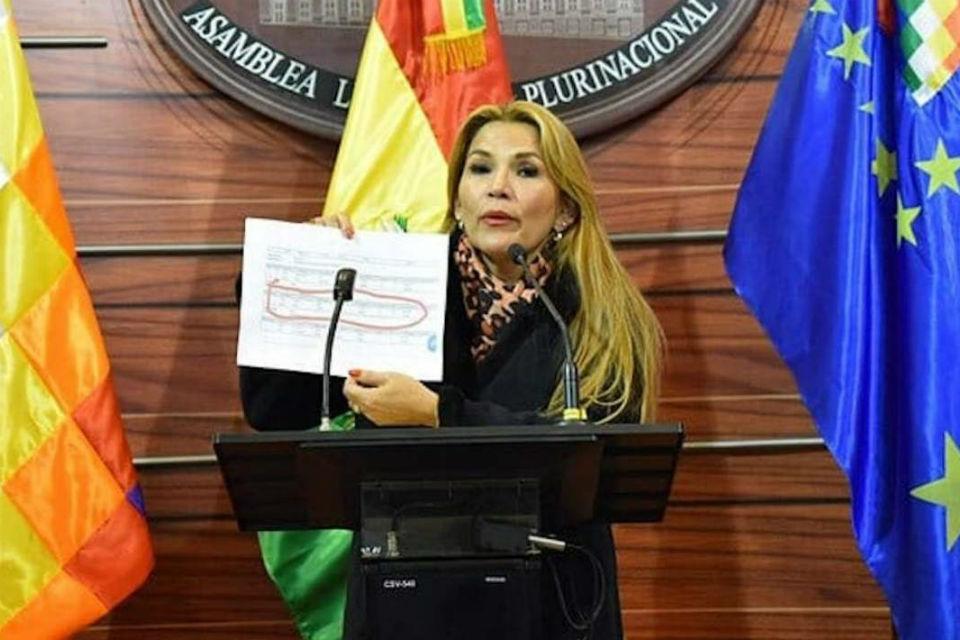 Recomiendan abrir juicio a presidenta interina de Bolivia Jeanine Áñez