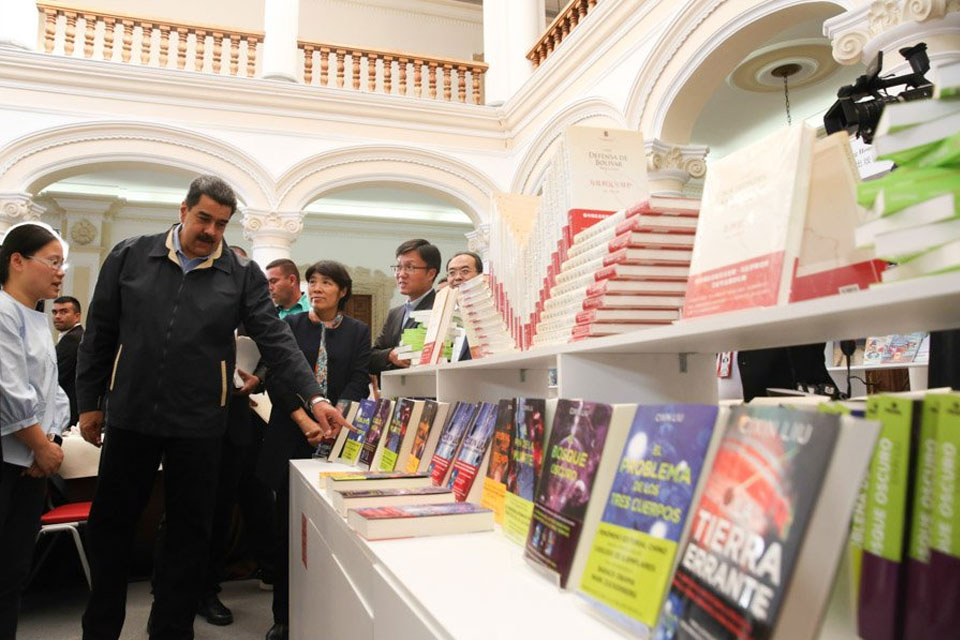 Nicolás Maduro en la Filven