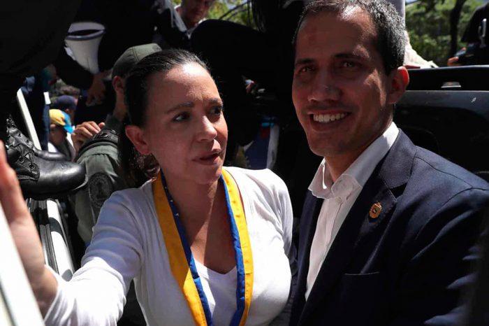 María Corina y Juan Guaidó