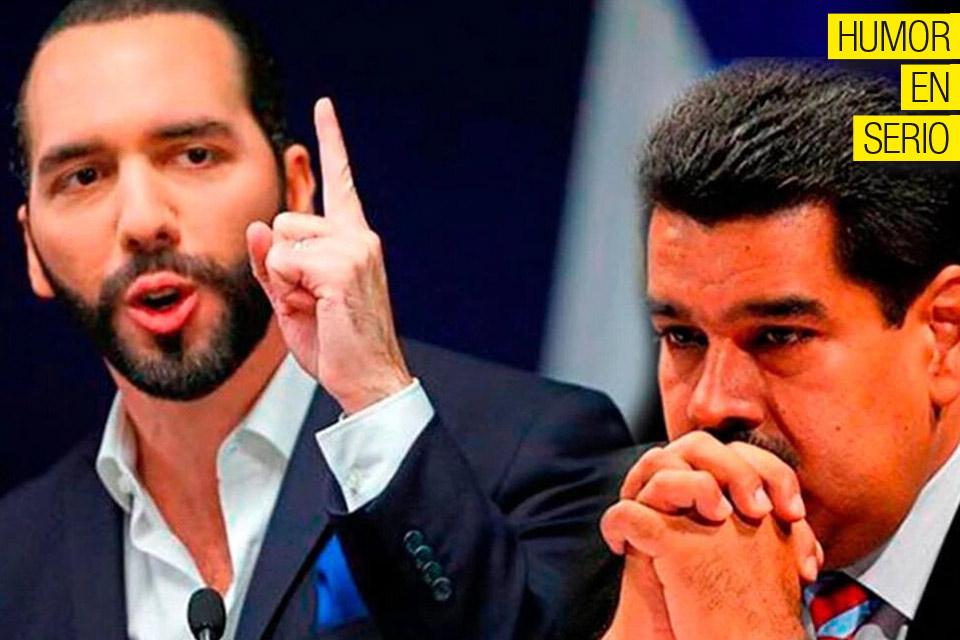 Nayib Bukele y Nicolas Maduro