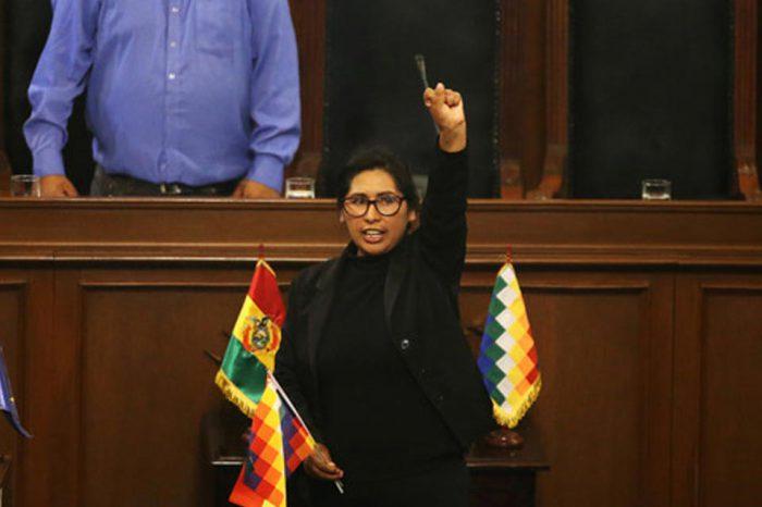 Eligen a legisladora del partido de Morales como nueva presidenta del Senado