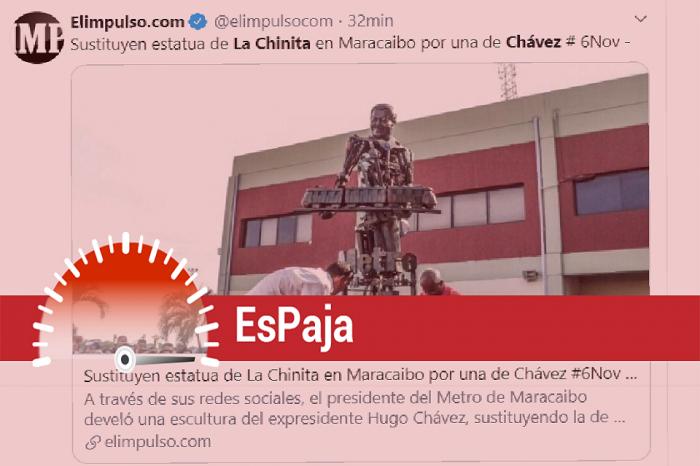 """Es falso cambio de la virgen de la Chinita por estatua """"robocop o transformers"""" de Chávez"""