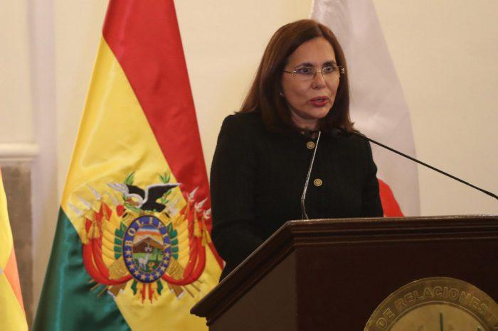 Cancillería de Bolivia: Había que detener la injerencia por parte de Venezuela